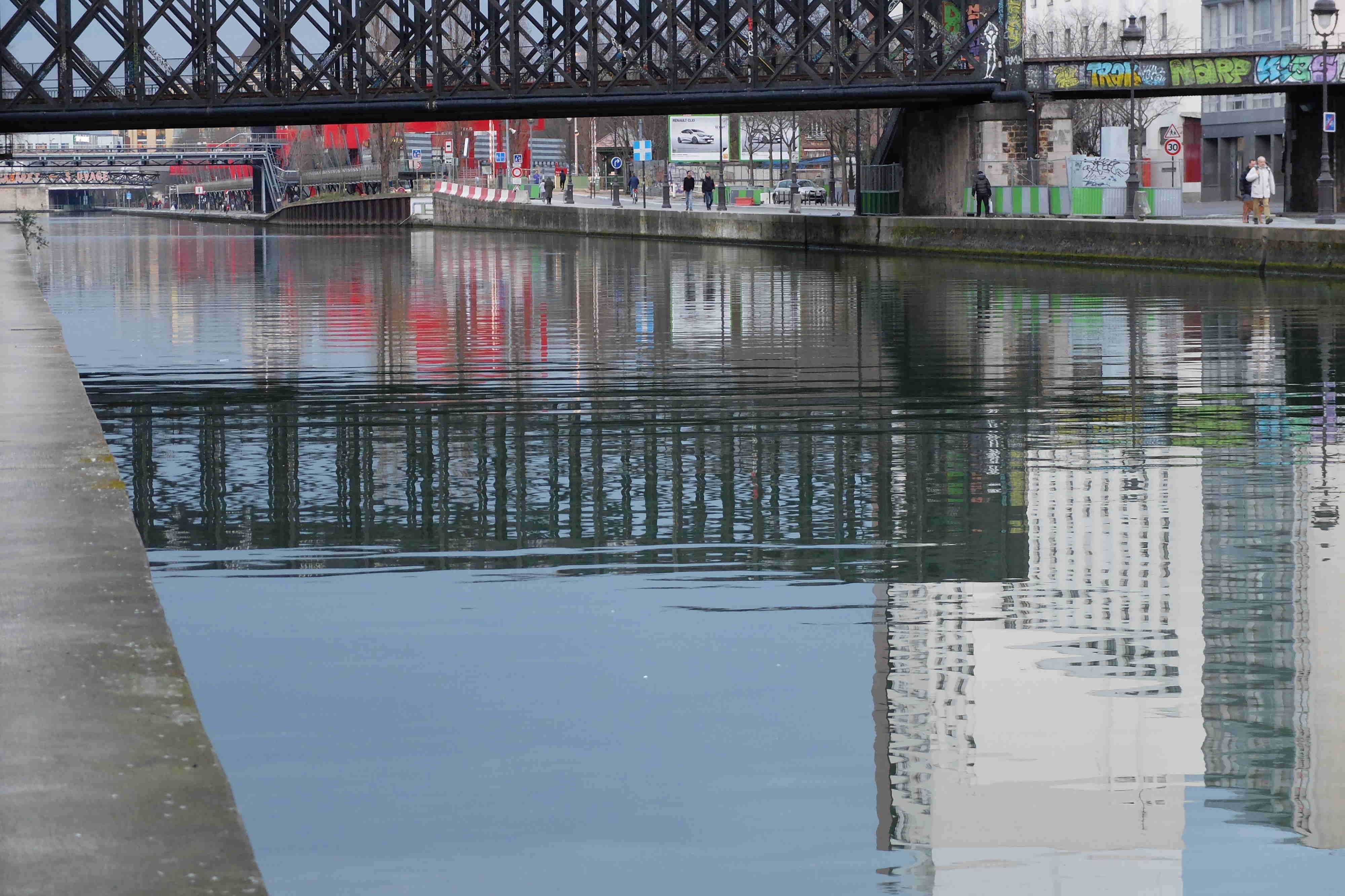 Bleu sur pont