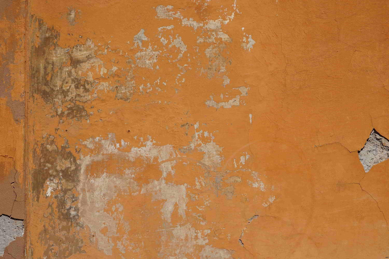 Reste de peinture en orange