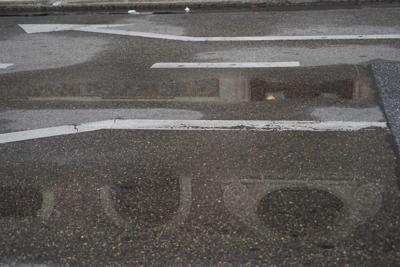 Reflet d'un jour après la pluie