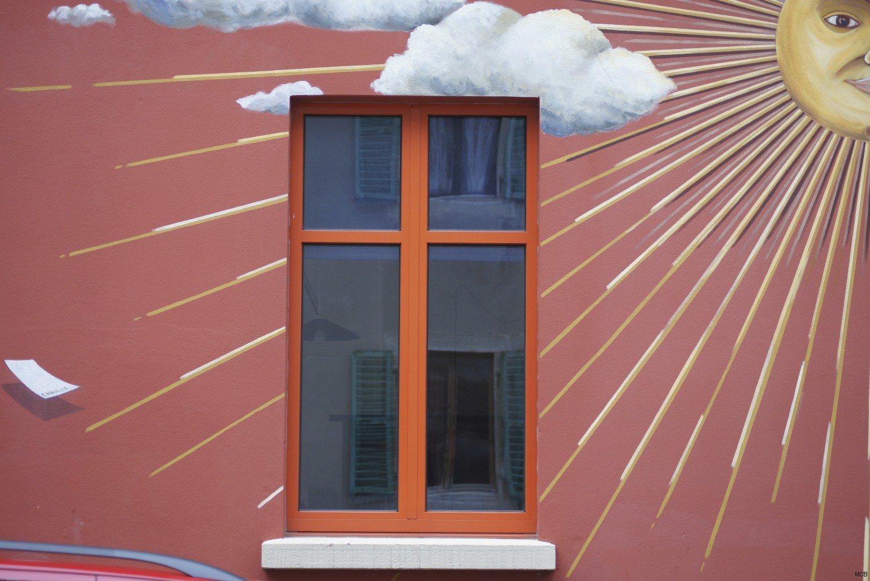 Soleil sur fenêtre