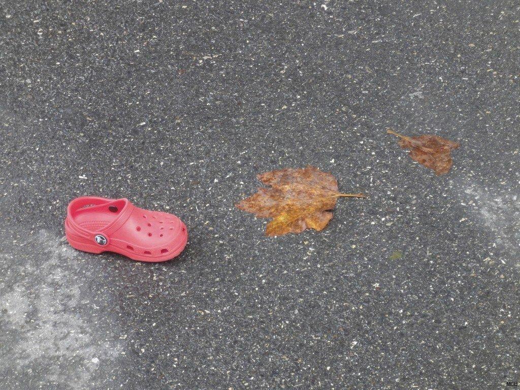 Chaussure d'enfance perdue
