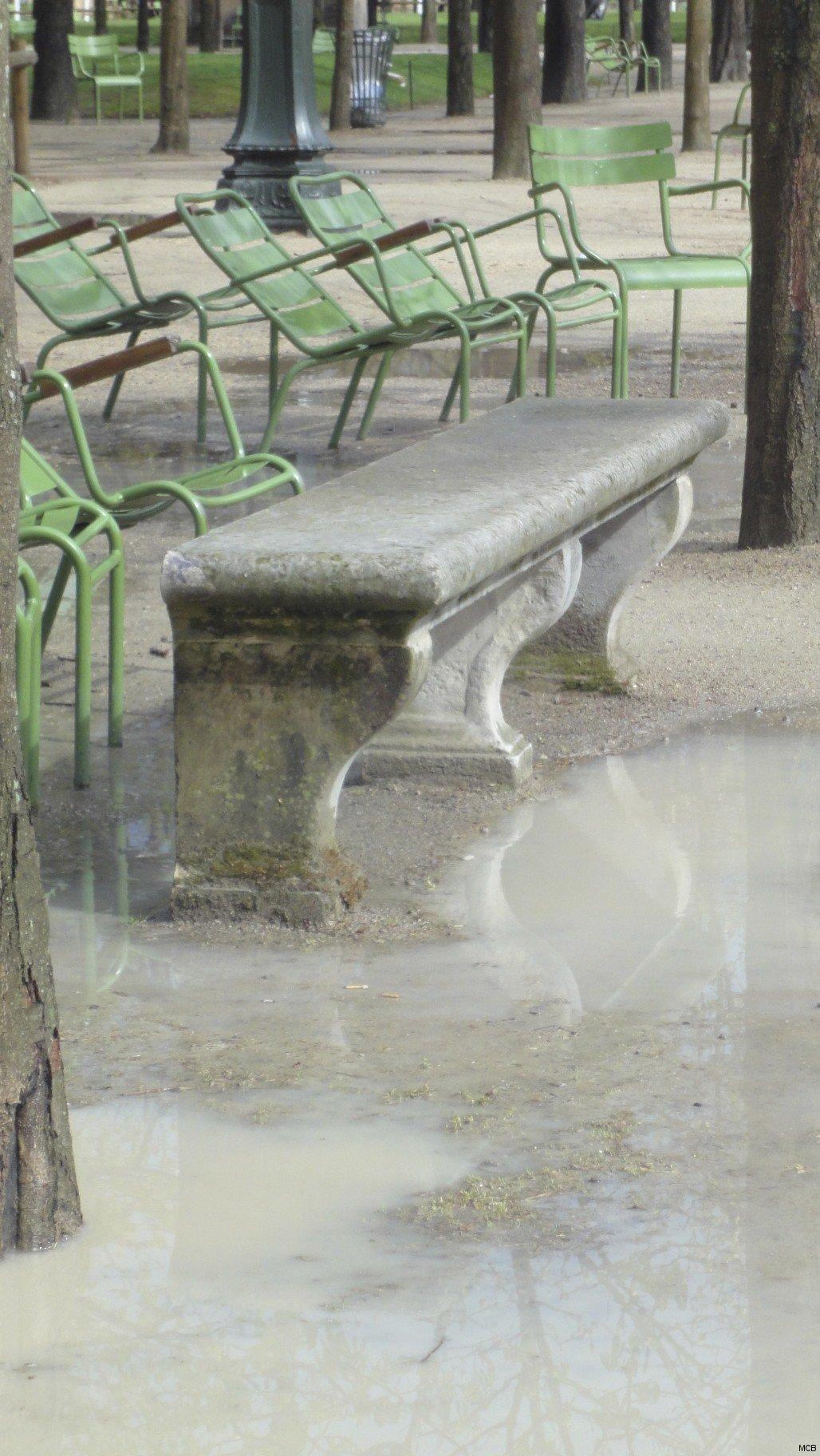 Banc après l'orage