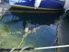 Barque de lac au soleil couchant