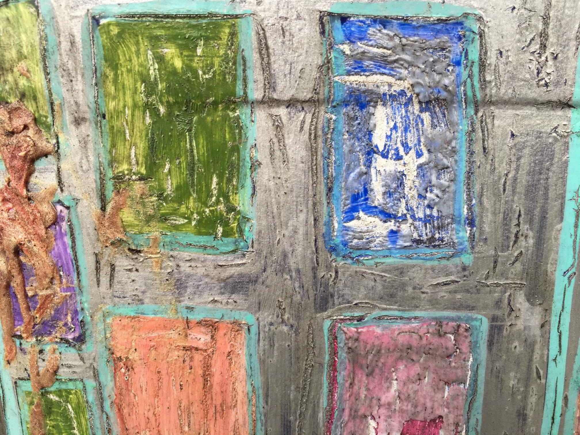 Peinture dans cour d'école