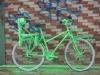 Vélo habillé en vert